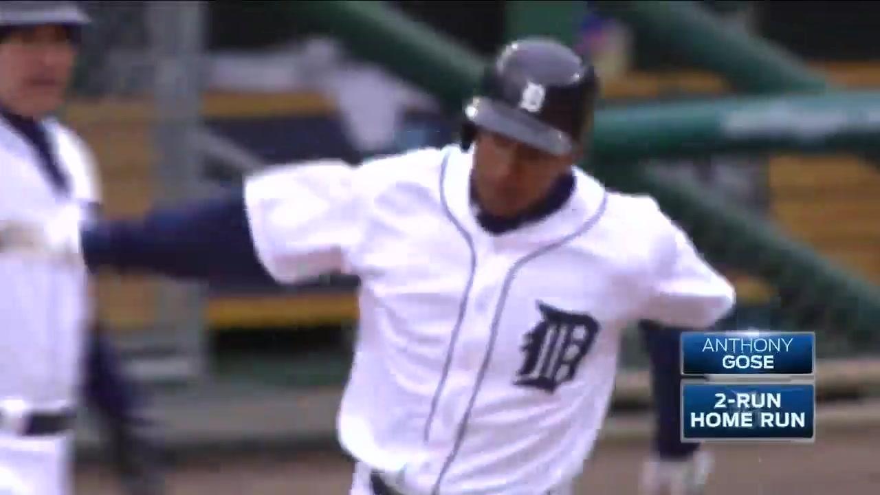 Detroit's Anthony Gose crushes one