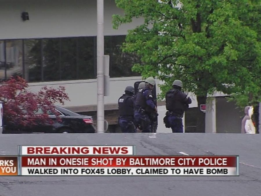 Police shoot man claiming to have bomb at Fox45