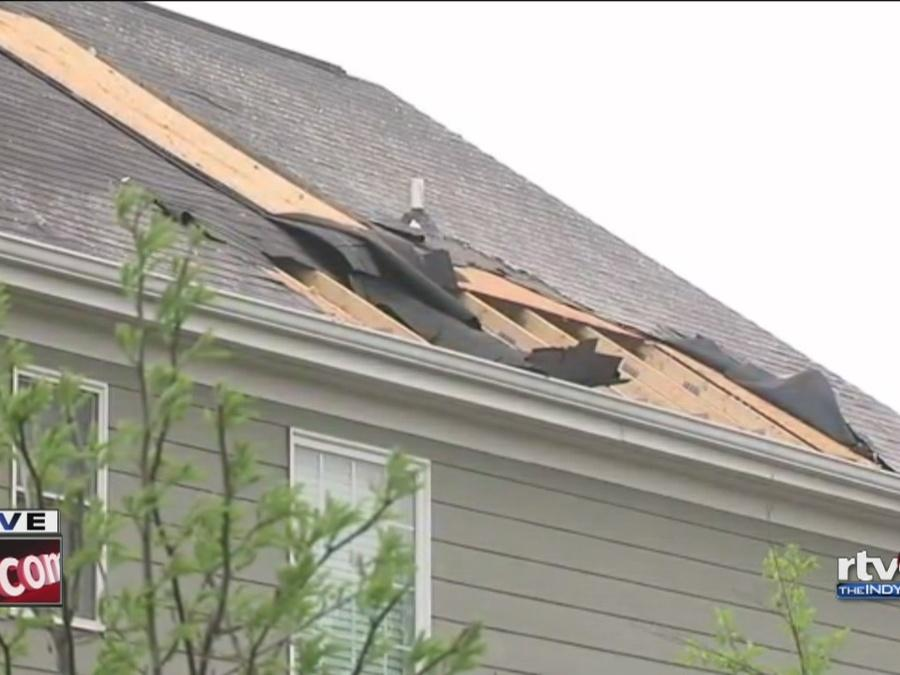 Roof damaged by Zionsville storm that may have produced a tornado