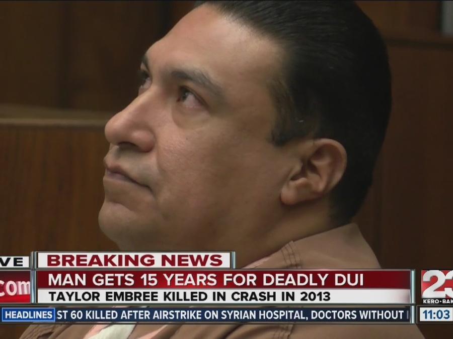 Gustavo De La Cruz sentenced 15 years to life for killing Taylor Embree