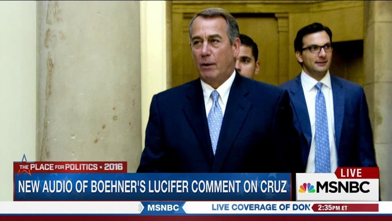 New audio of Boehner's Lucifer comment
