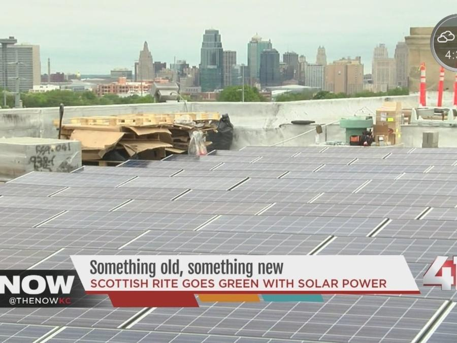 Scottish Rite goes green with solar power