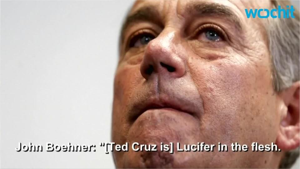 Boehner Name-Calls Cruz 'Lucifer'