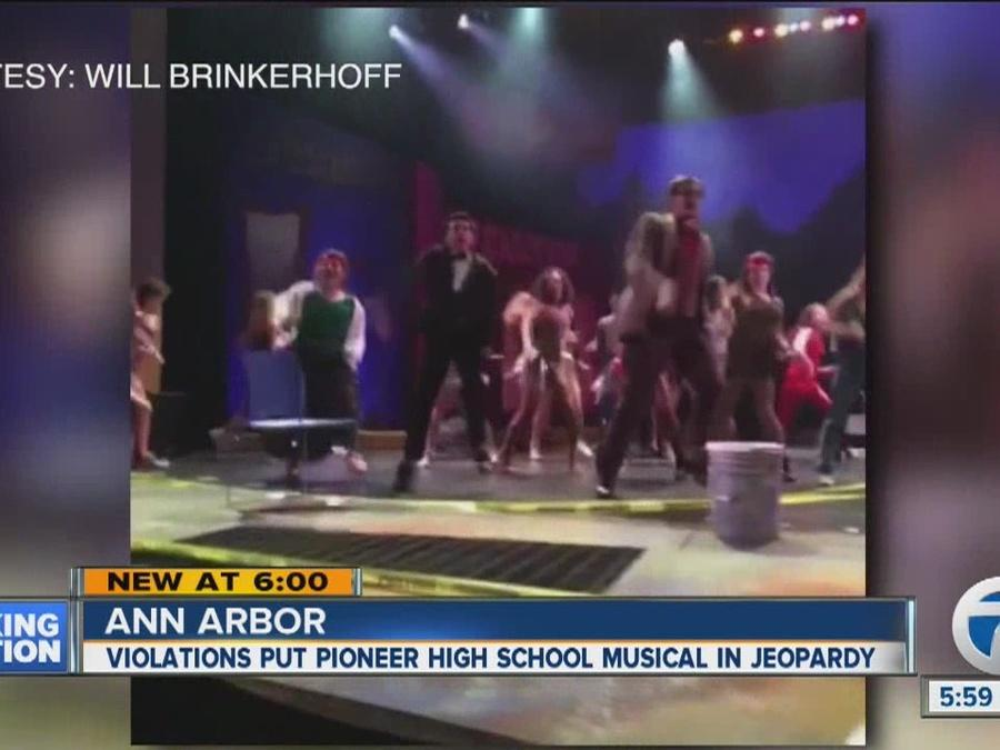 Violations put Ann Arbor Pioneer High School musical in jeopardy