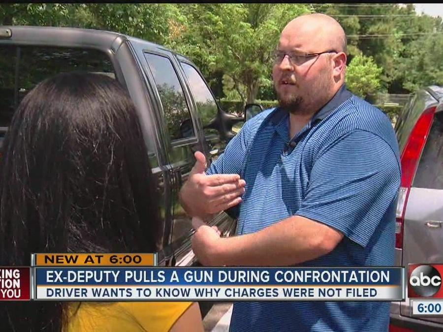 Ex-Deputy pulls a gun during confrontation