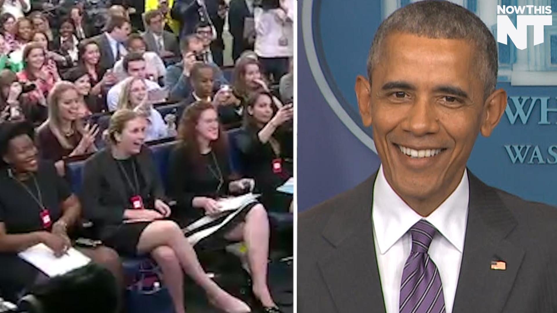 President Obama Surprised 50 Student Journalists