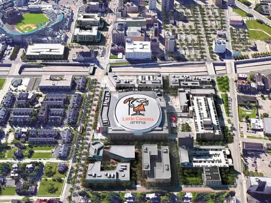 New Red Wings arena won't have LED roof; ops for giant Little Caesars logo