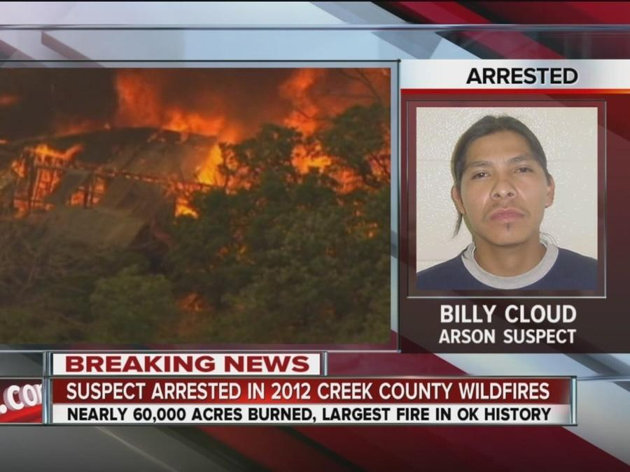 Suspect Arrested In 2012 Creek County Wildfires