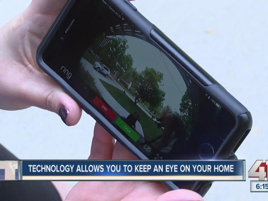 Technology allows you to keep an eye on your home
