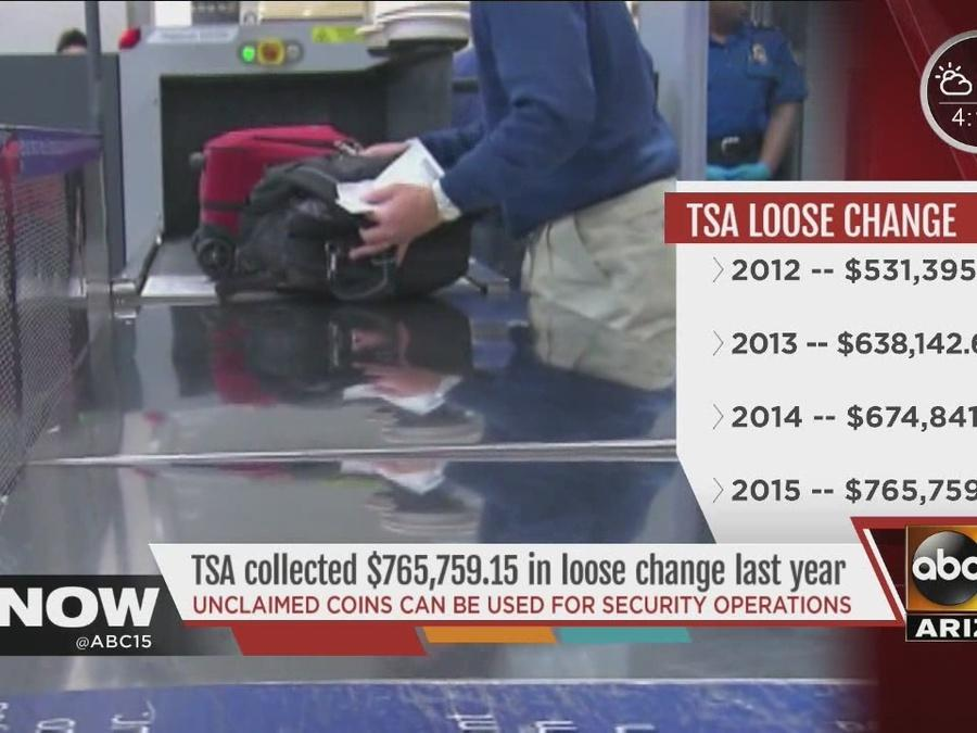 TSA claims more than three-quarters of a million dollars in forgotten change