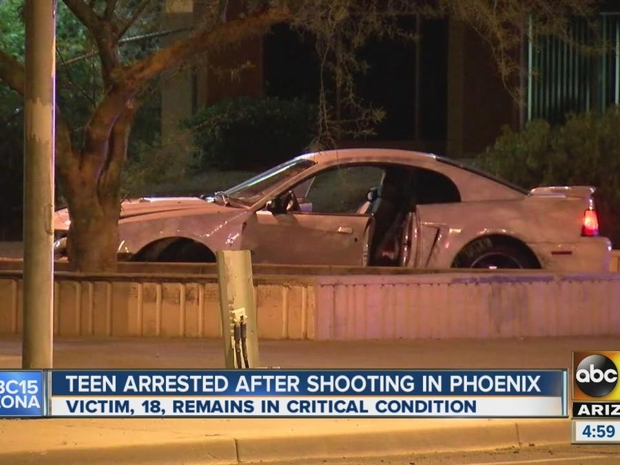 Teen arrested in shooting and crash in Phoenix