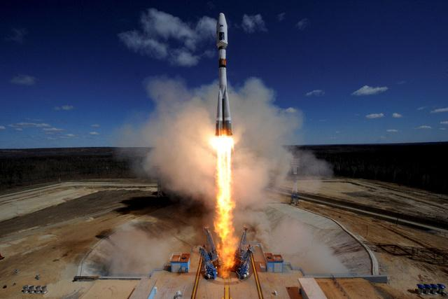 First rocket blasts off from Russia's new $2.7B Cosmodrome