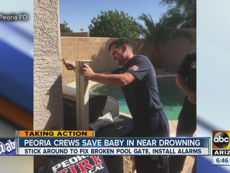 Peoria crews save baby in near drowning