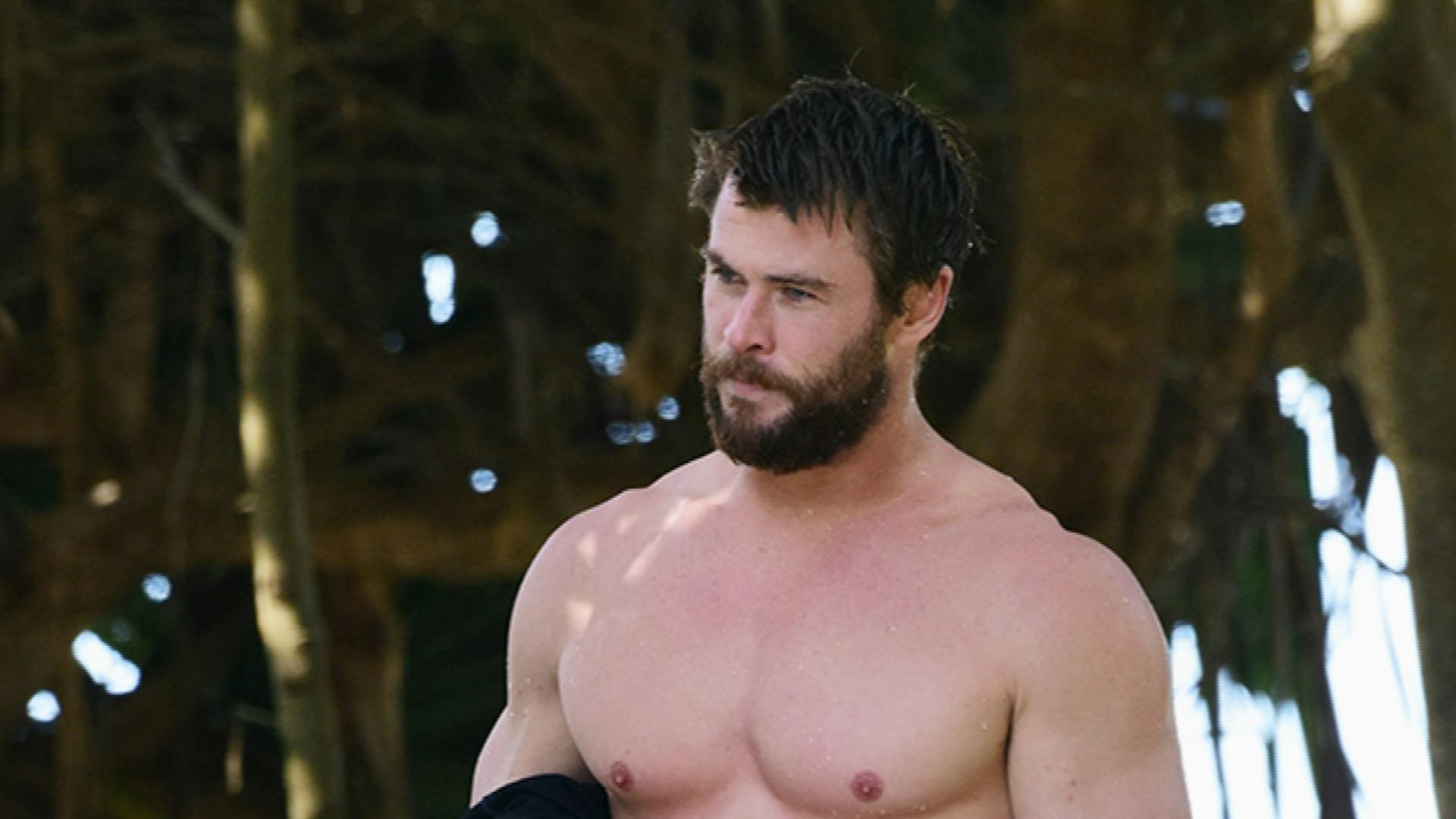 Chris Hemsworth is Caught Shirtless – The Big Pic