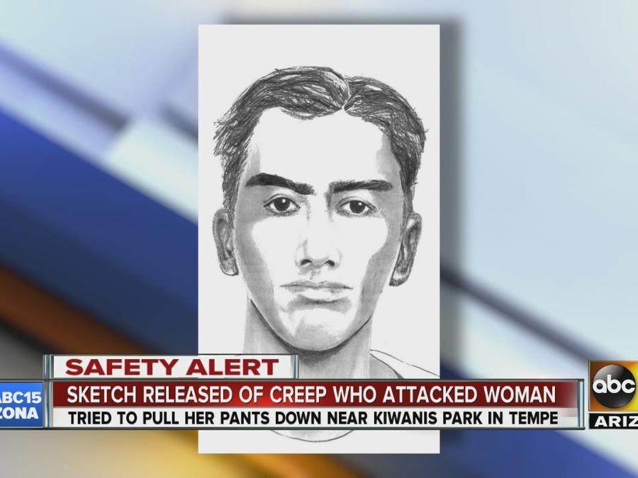 Sketch released of creep who attacked woman in Tempe