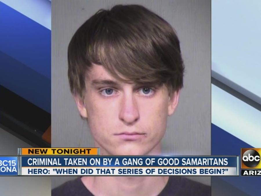 Criminal taken on by gang of Good Samaritans