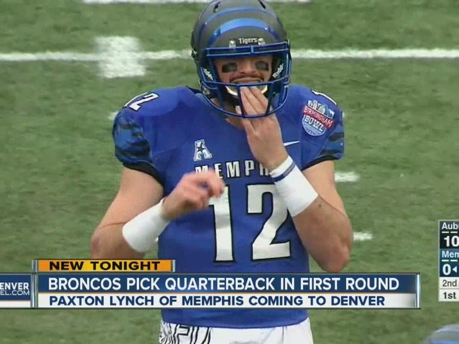 Broncos pick Memphis QB Paxton Lynch in 1st round