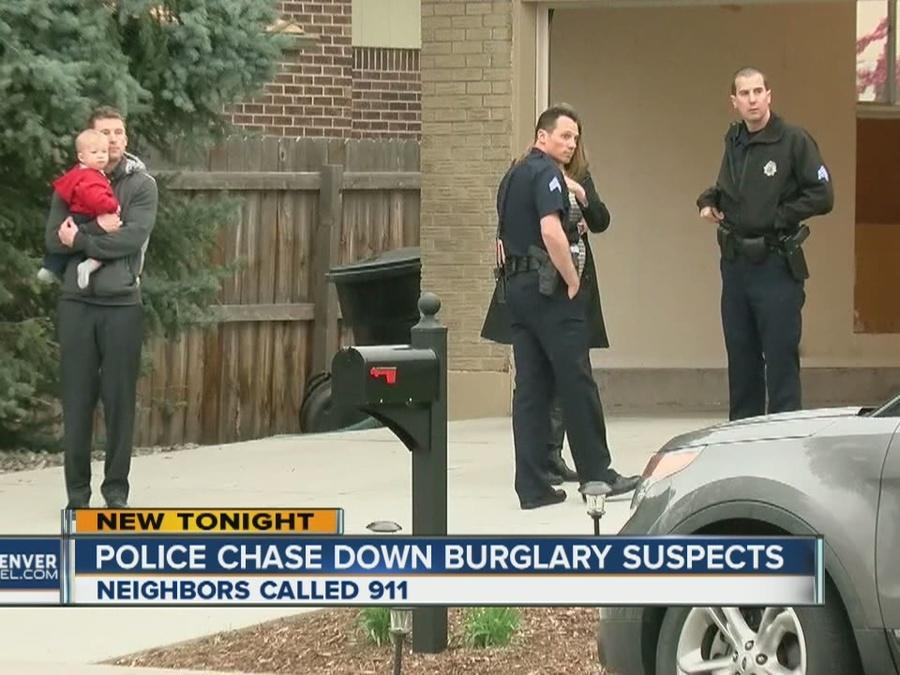 Police chase down burglary suspects