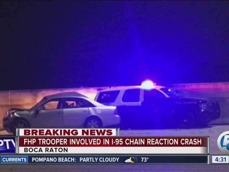 FHP trooper involved in I-95 wreck in Boca Raton