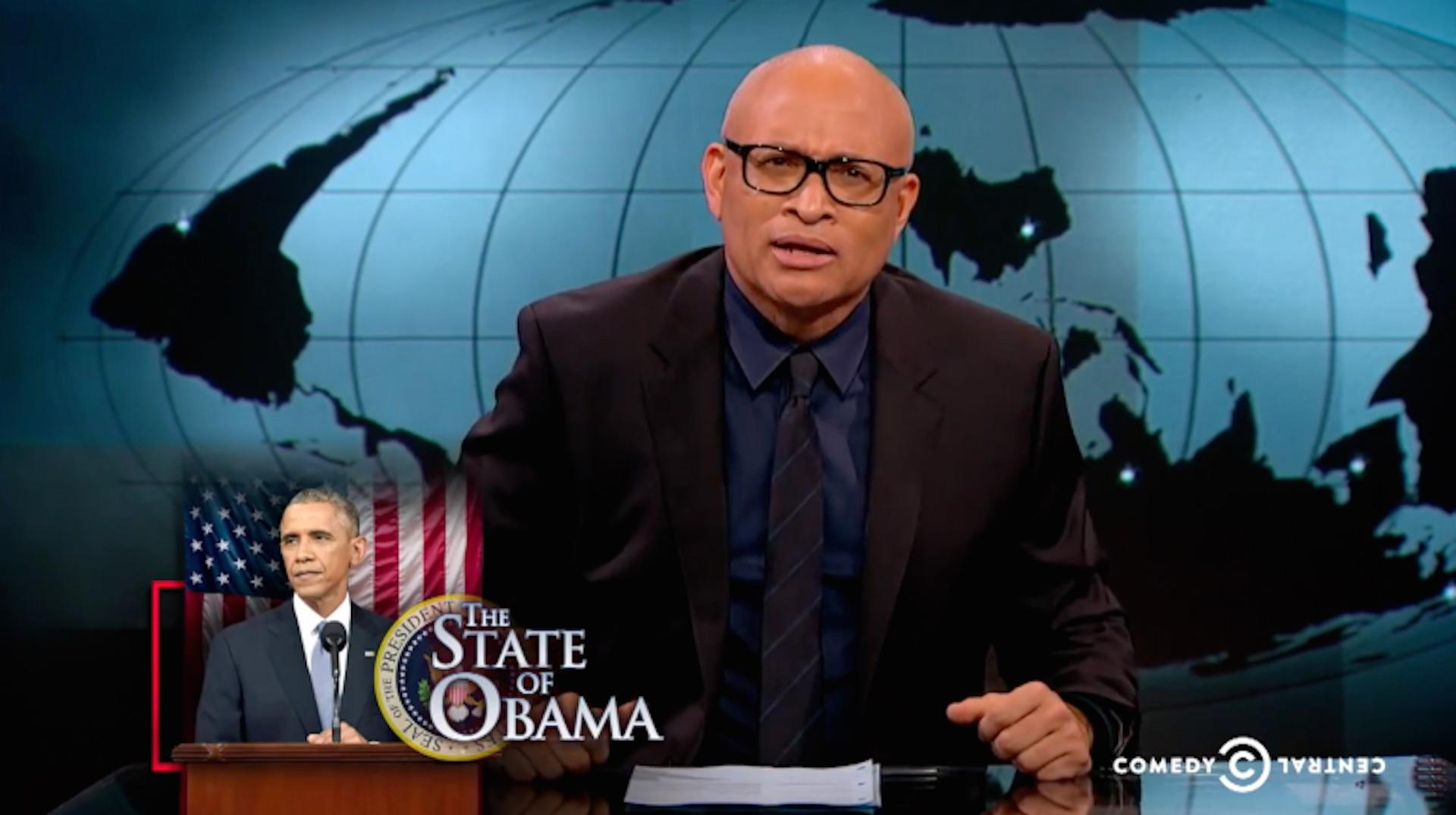 'I only support him because he's black': Larry Wilmore's Obama jokes