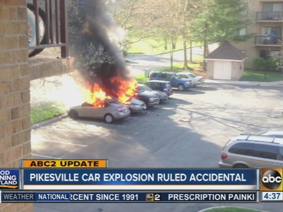 Pikesville car explosion ruled accidental
