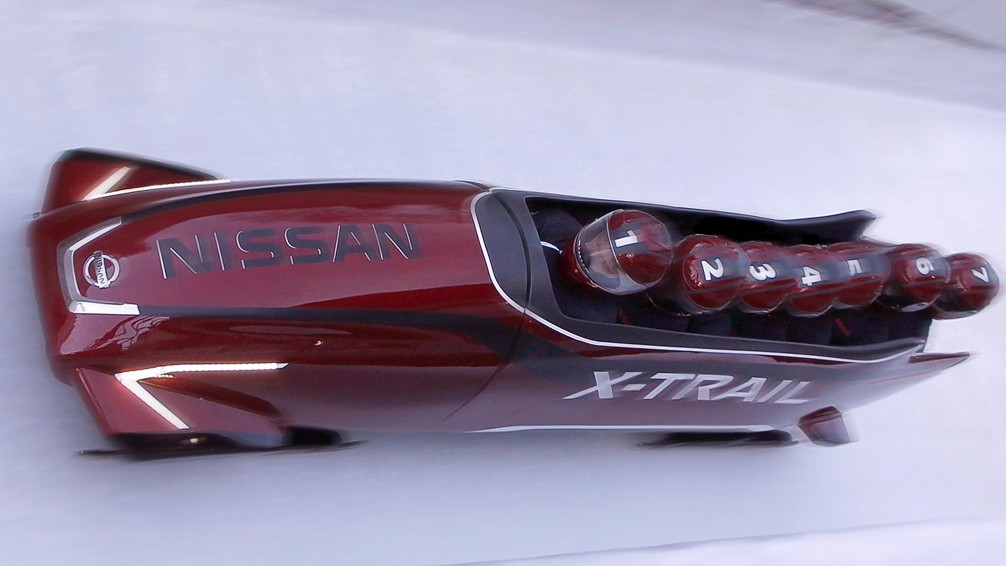 The Nissan bobsled is a different kind of fast