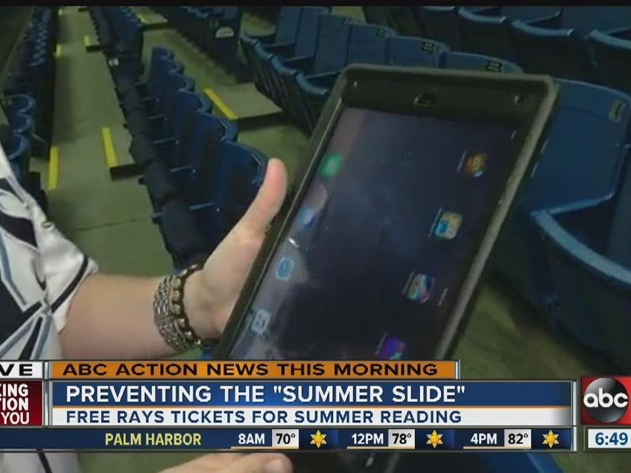Rays reading program helps prevent 'summer slide' for your kids