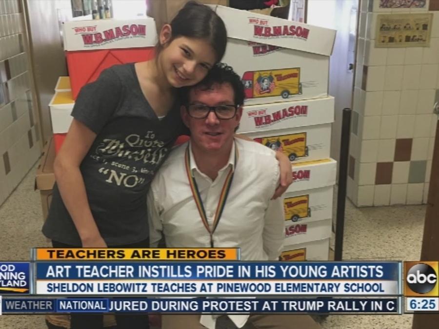 Art teacher at Pinewood Elementary School instills pride in his students