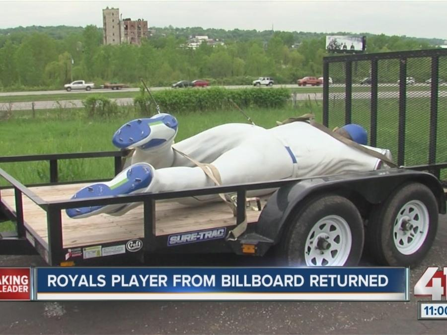 Royals player from billboard returned