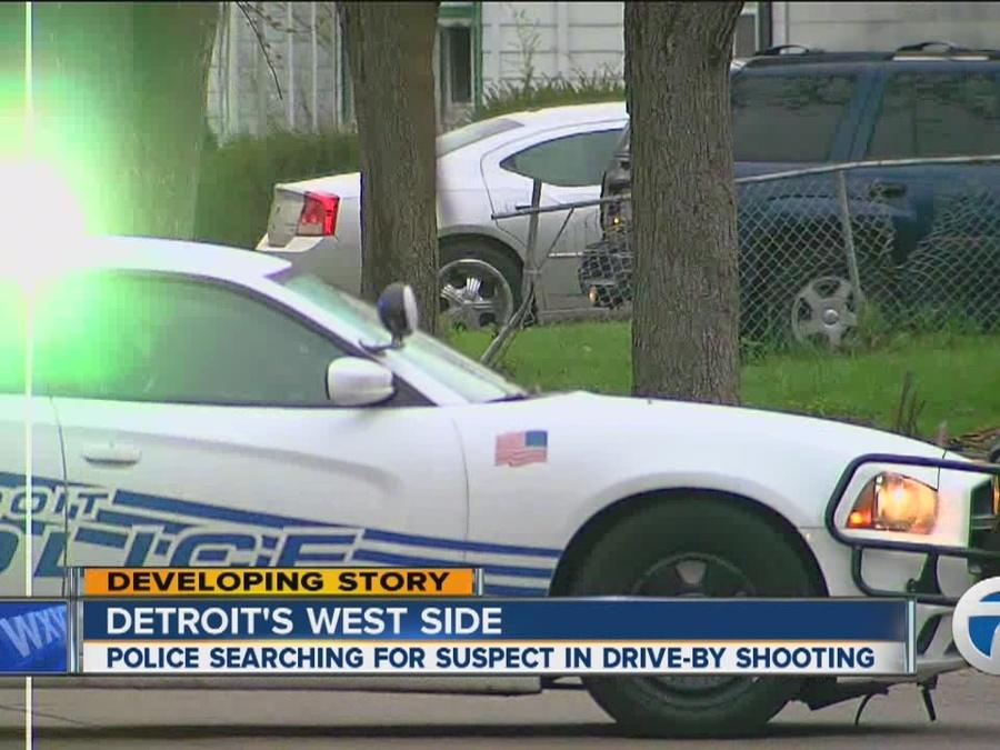 Police investigate after drive-by shooting in Detroit