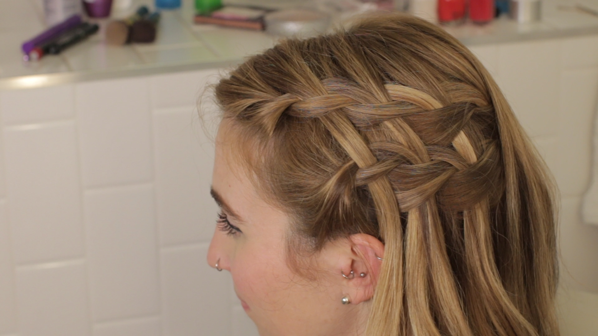 The Easy, Gorgeous Double Waterfall Braid