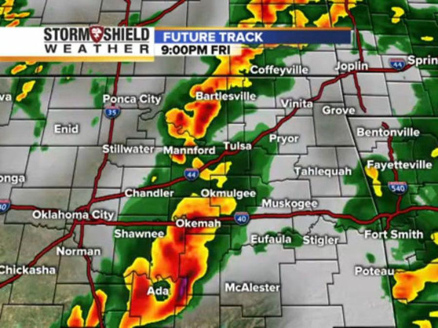 Timeline of radar shows when, where severe weather, storms will hit in Tulsa and all of Oklahoma