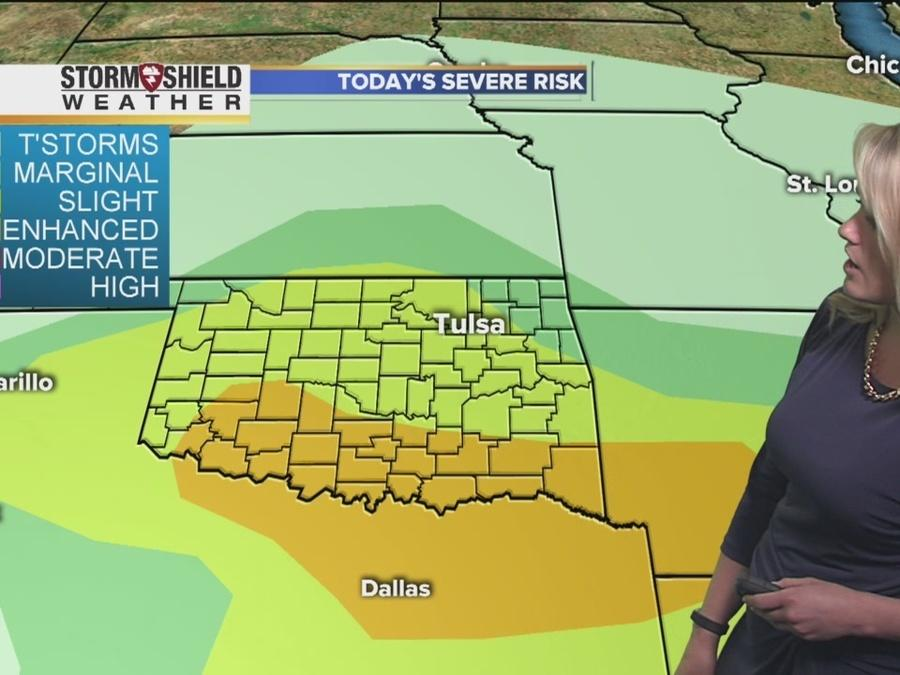Severe weather, storms forecast for Friday afternoon in Tulsa and all of Oklahoma