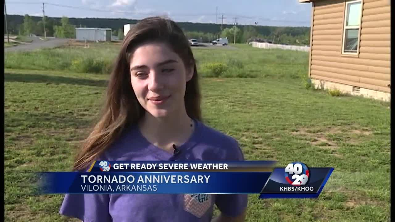 Girl who survived Vilonia tornado looks back on the storm