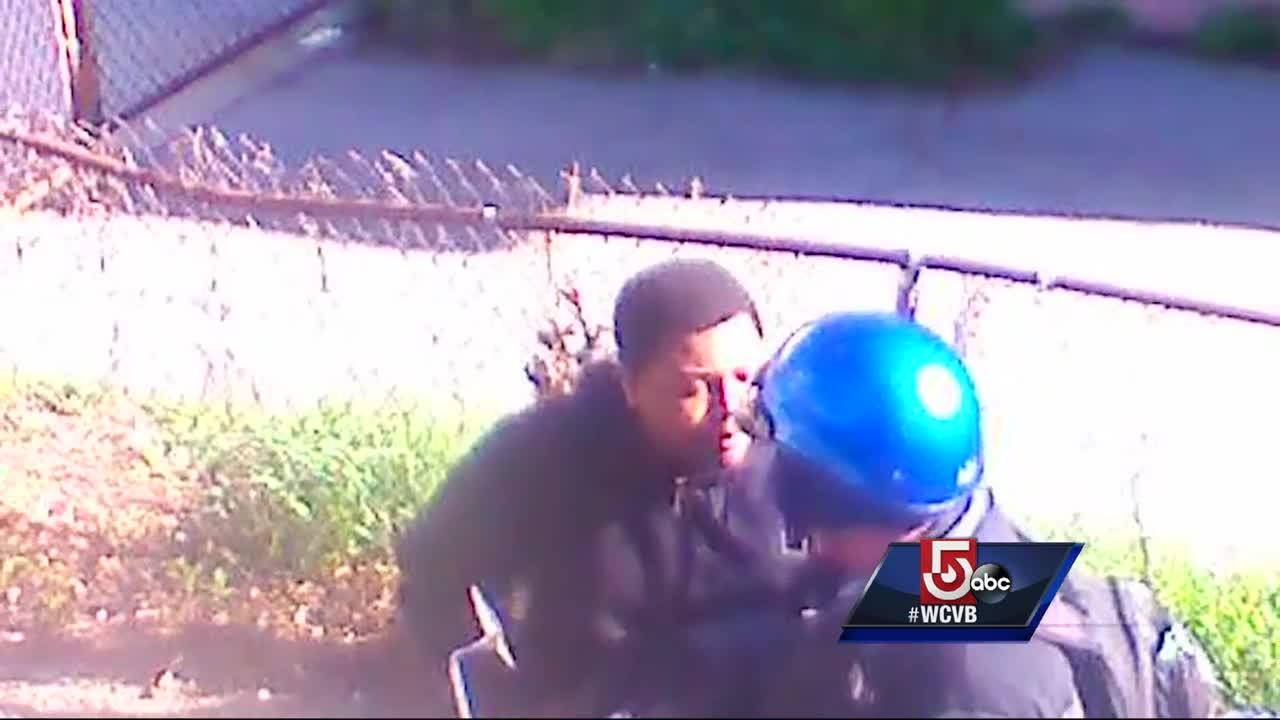 Security camera records teen violently attack man, steal scooter