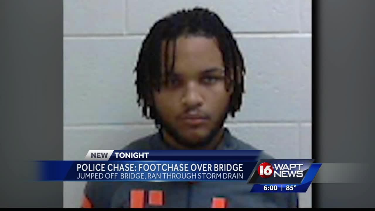 Man jumps off 50 foot high bridge fleeing police