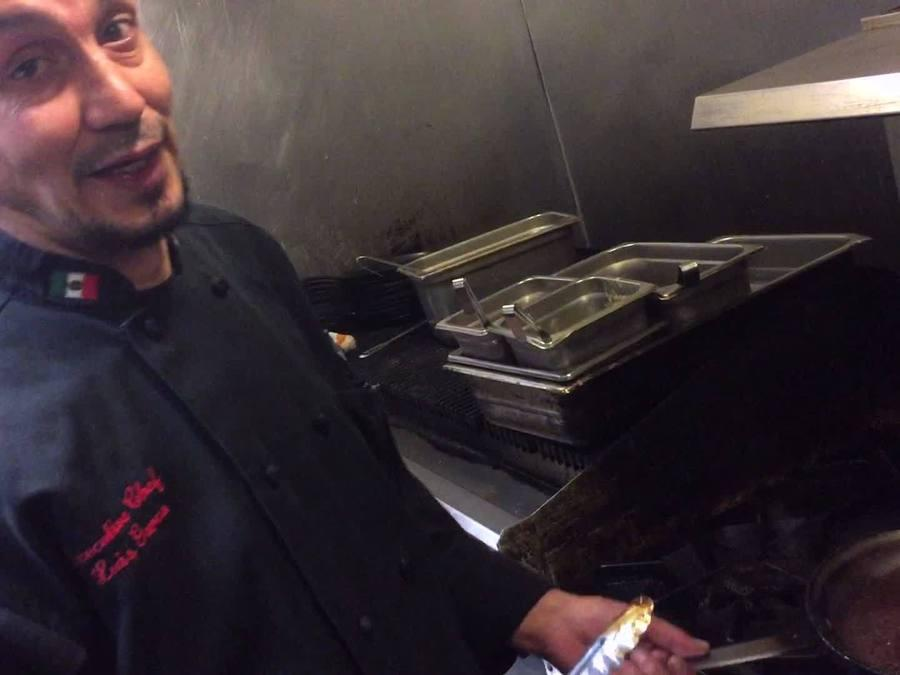 Chef Luis Garza from El Asador Steakhouse cooks Mole Poblano