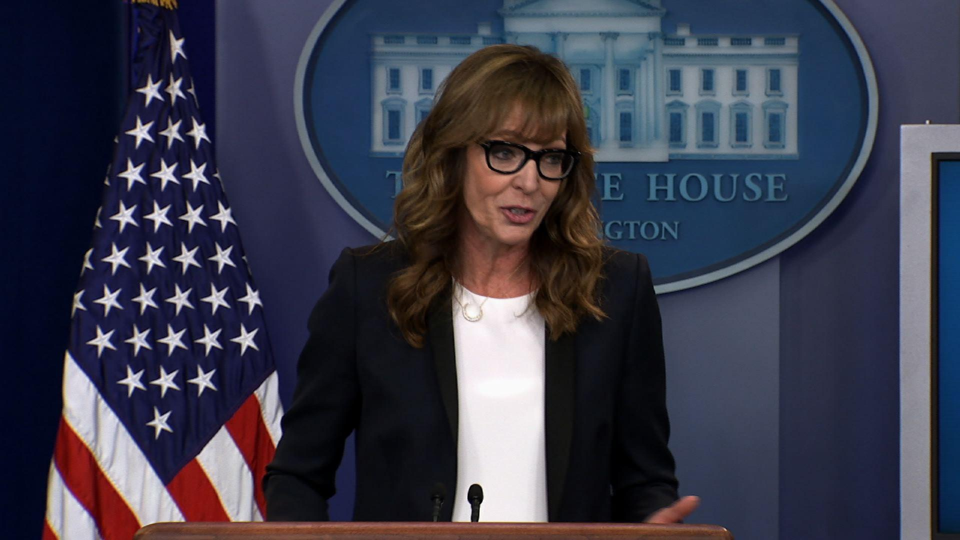 Former 'The West Wing' Star Takes Over WH Podium