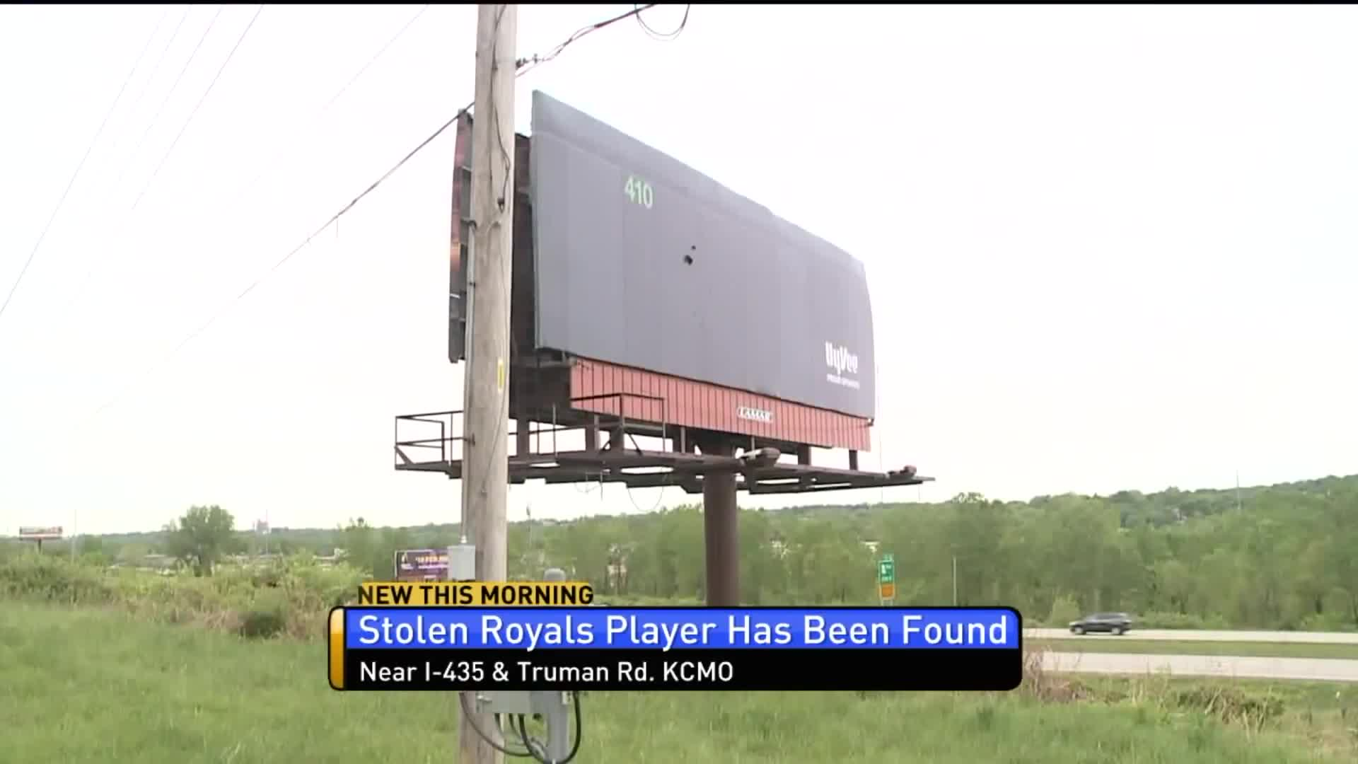 Thieves Return Giant Royals Player That Was Stolen From Billboard