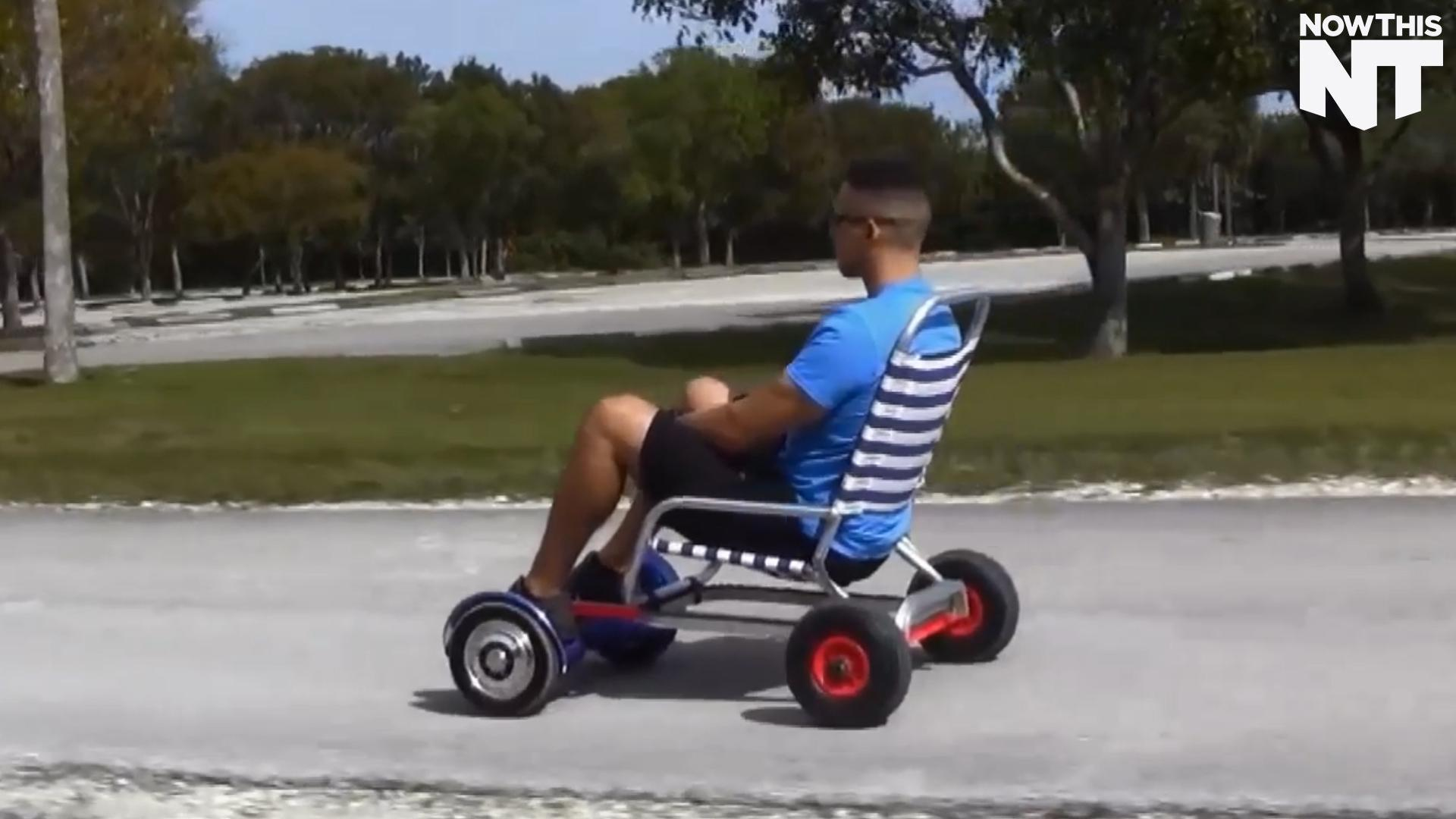 This Invention Transforms Your Hoverboard Into A GoKart