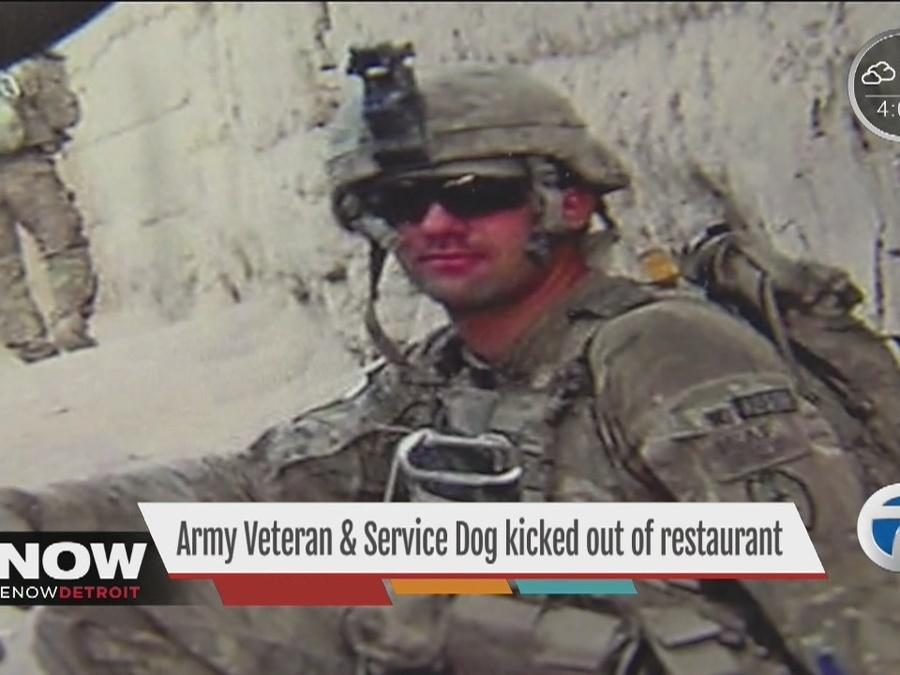 Army veteran and his service dog kicked out of restaurant