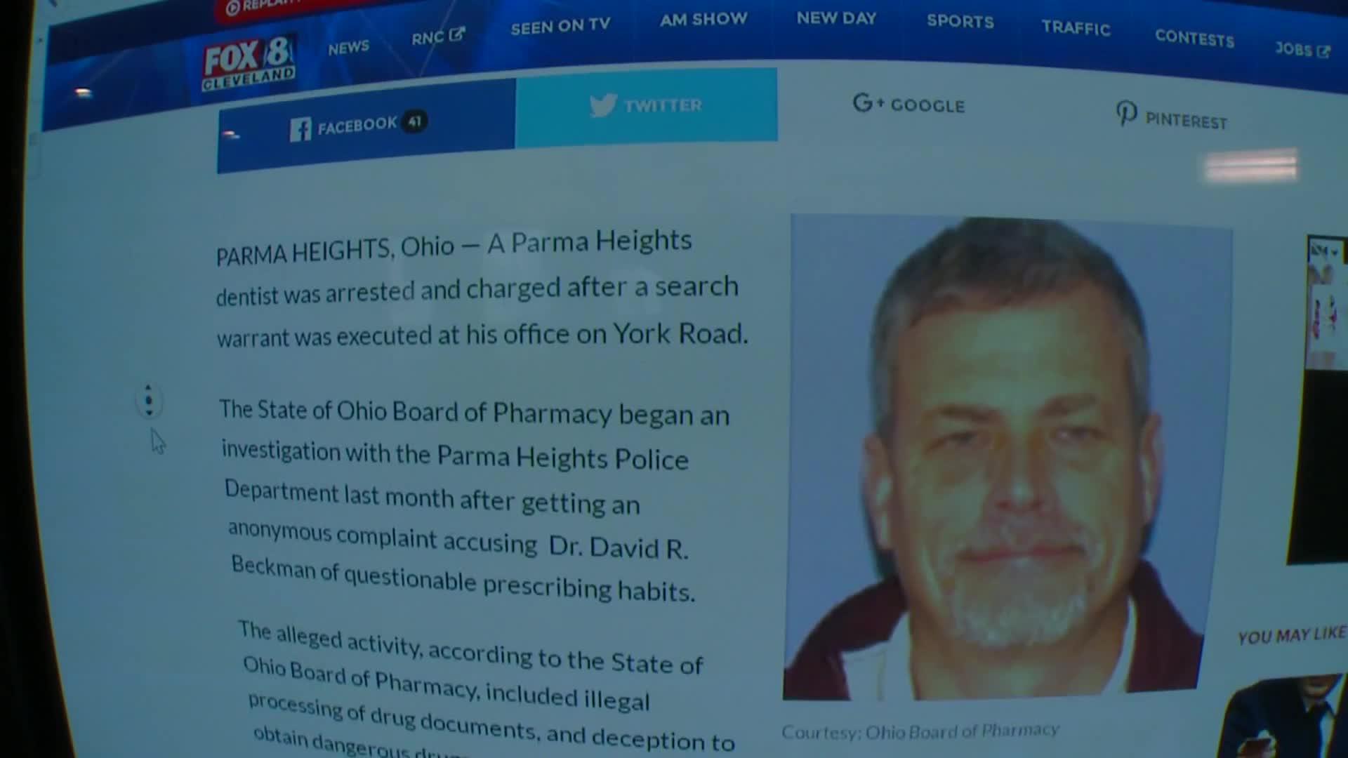 Dentist Accused of Questionable Prescribing Habits Arrested