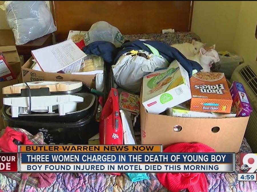 Three women charged in young boy's death