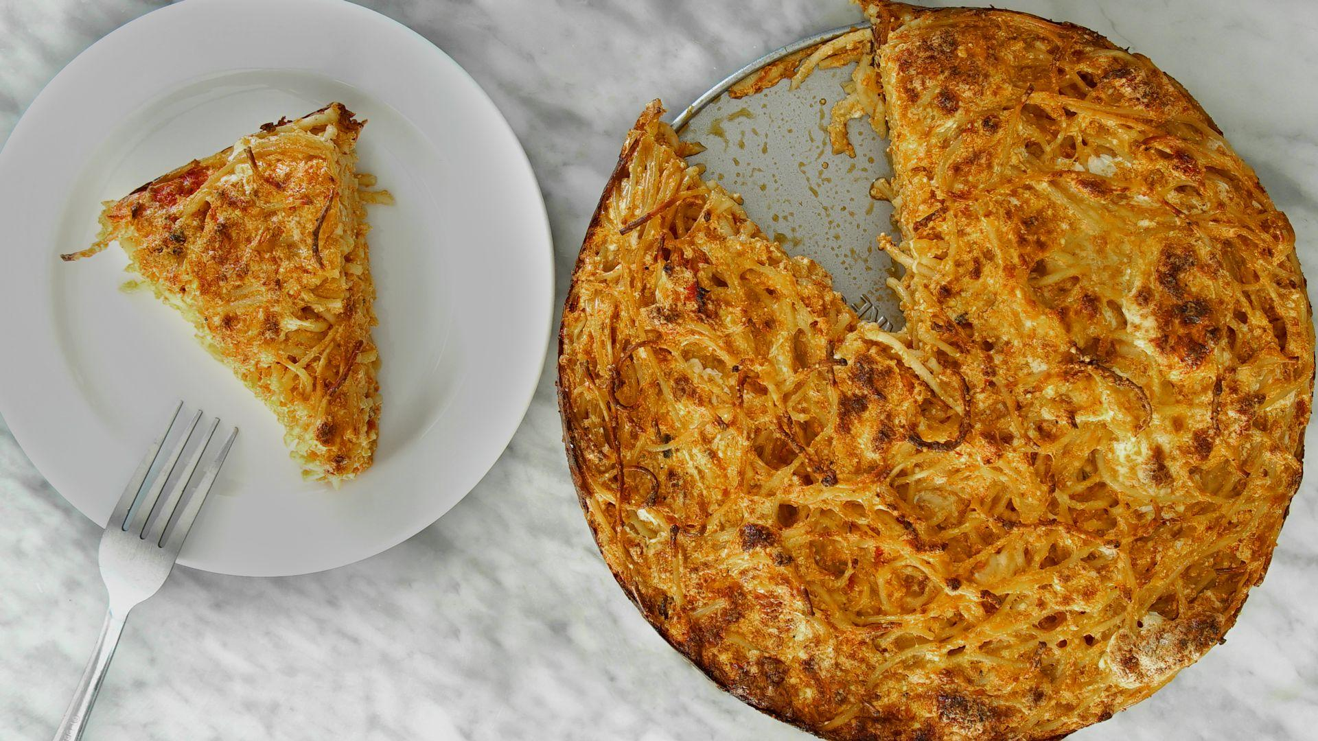 Spaghetti Pie: The Best Way To Use Pasta Leftovers