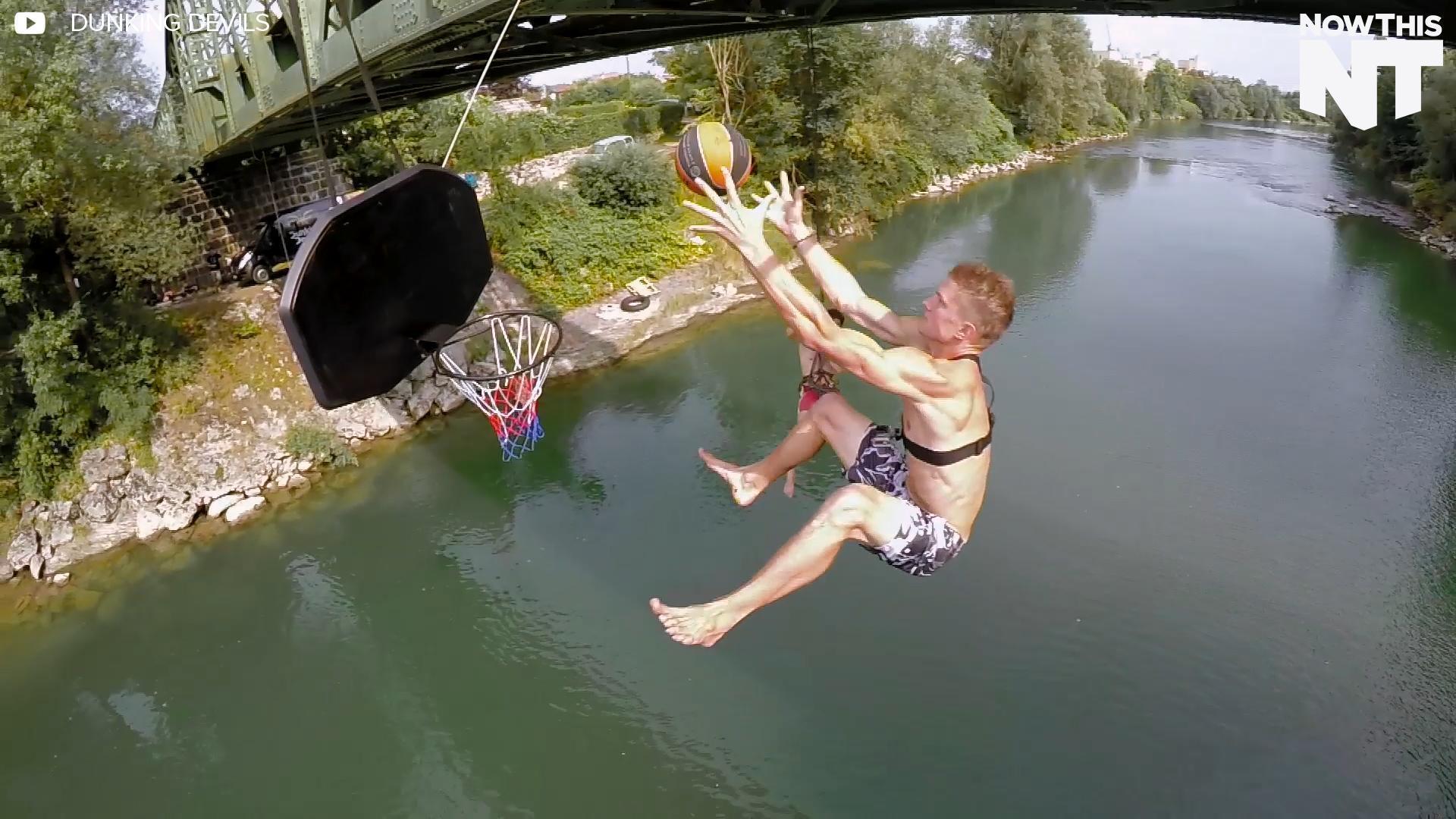 Acrobatic Basketball Team Does Mind-Bending Stunts