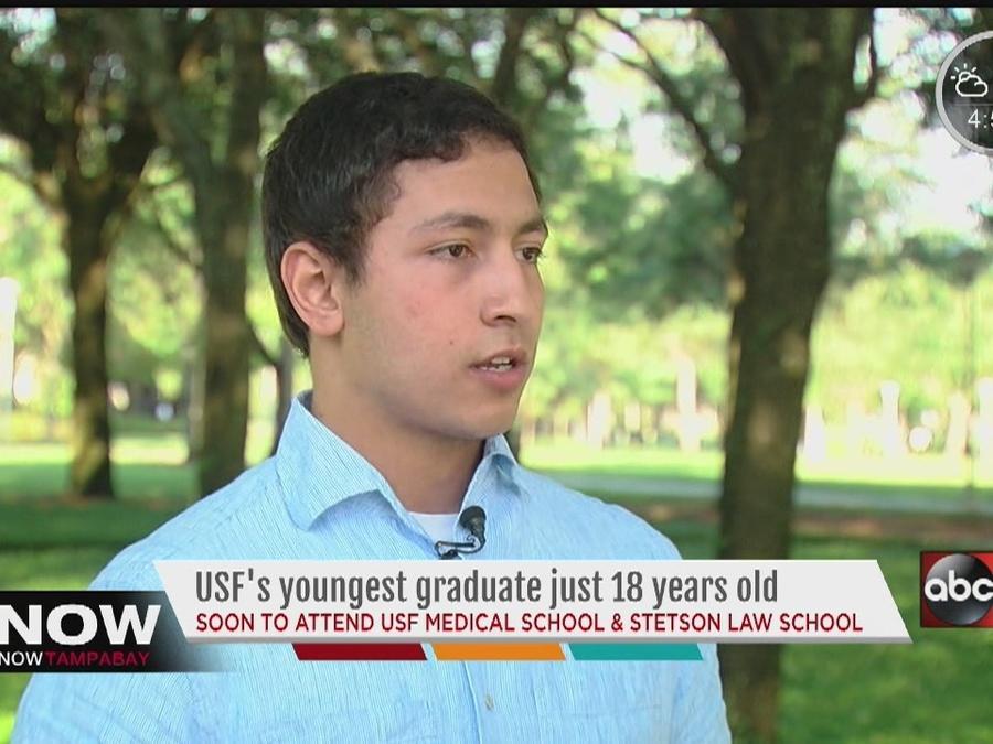 18-year-old USF Senior in med & law school