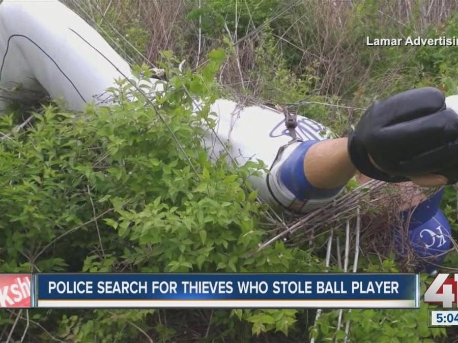 Police search for thieves who stole Royals player