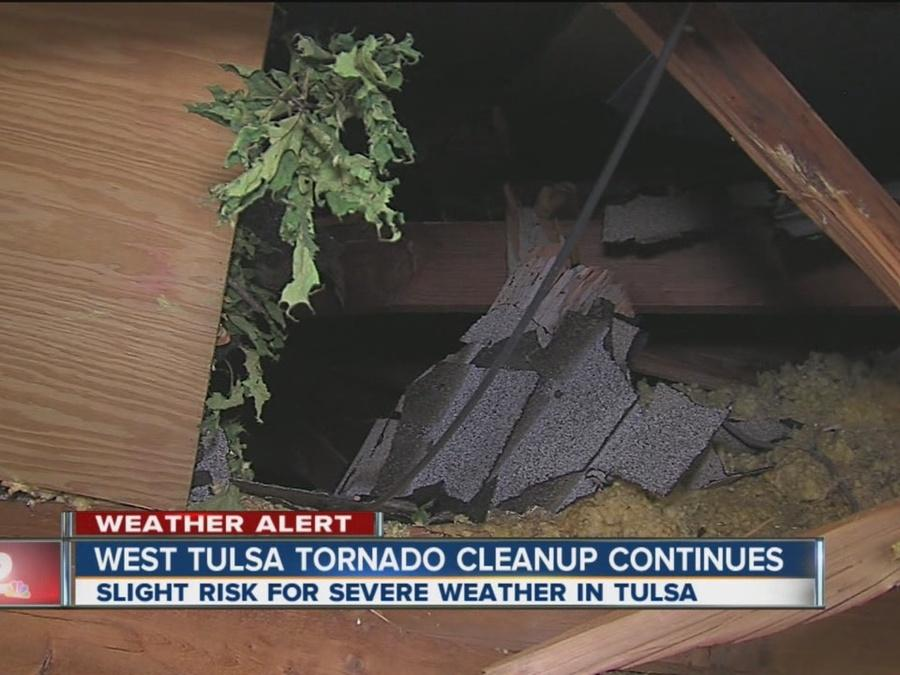 West Tulsa Cleanup Continues