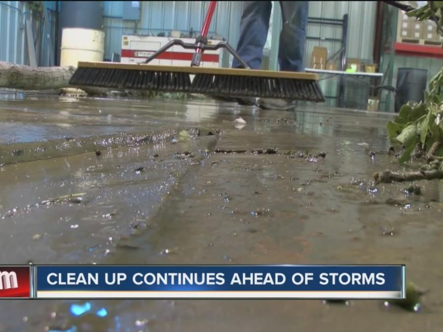 Cleanup Continues As Storms Close In