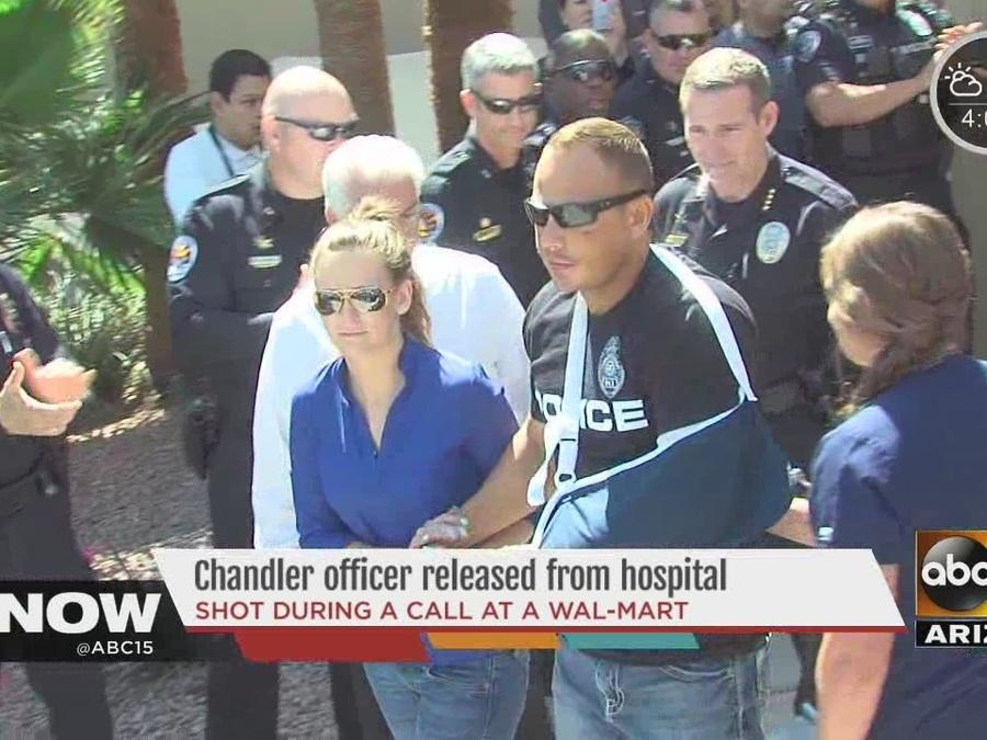 Chandler officer released from hospital after nearly a week